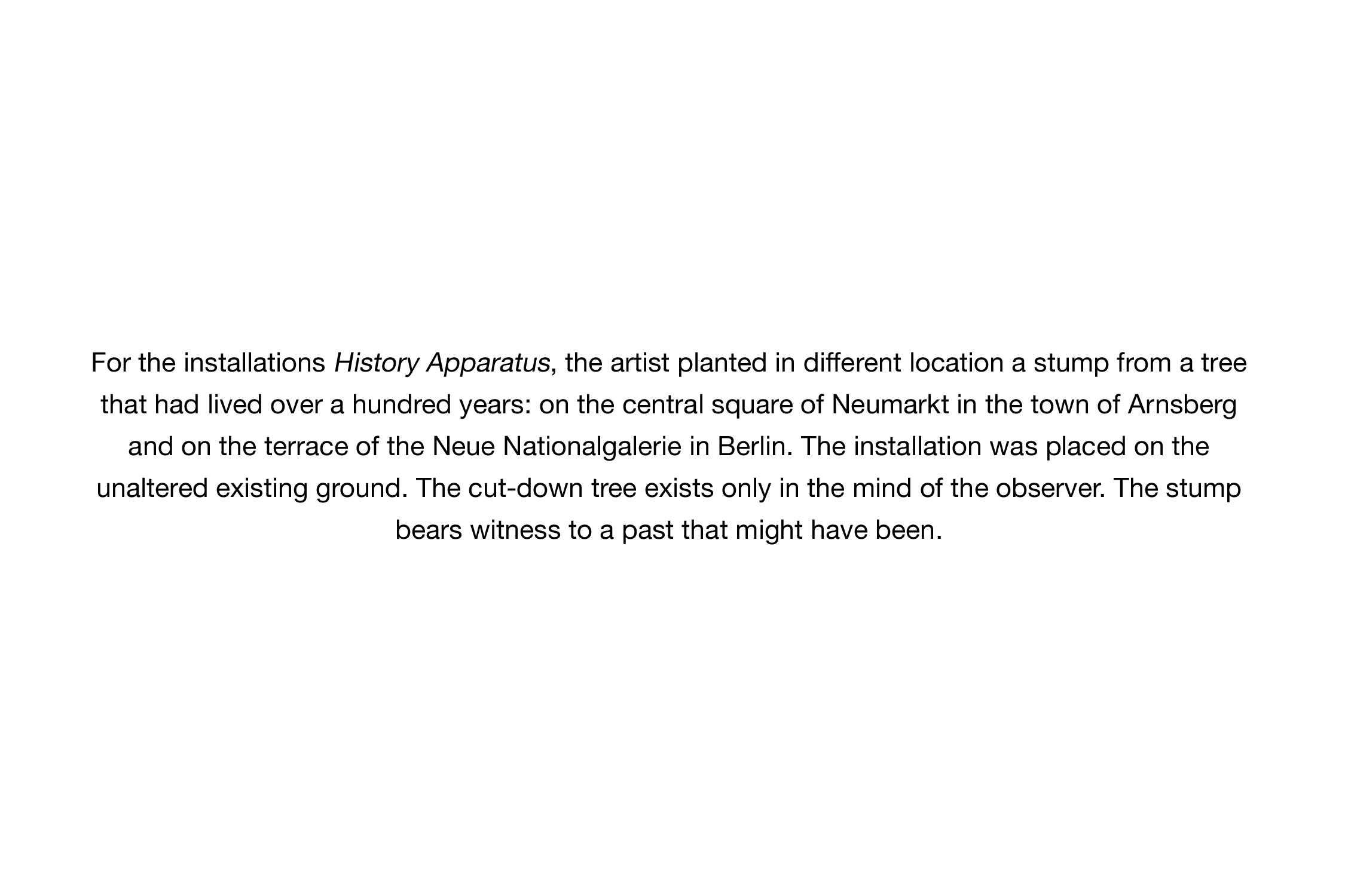 History Apparatus