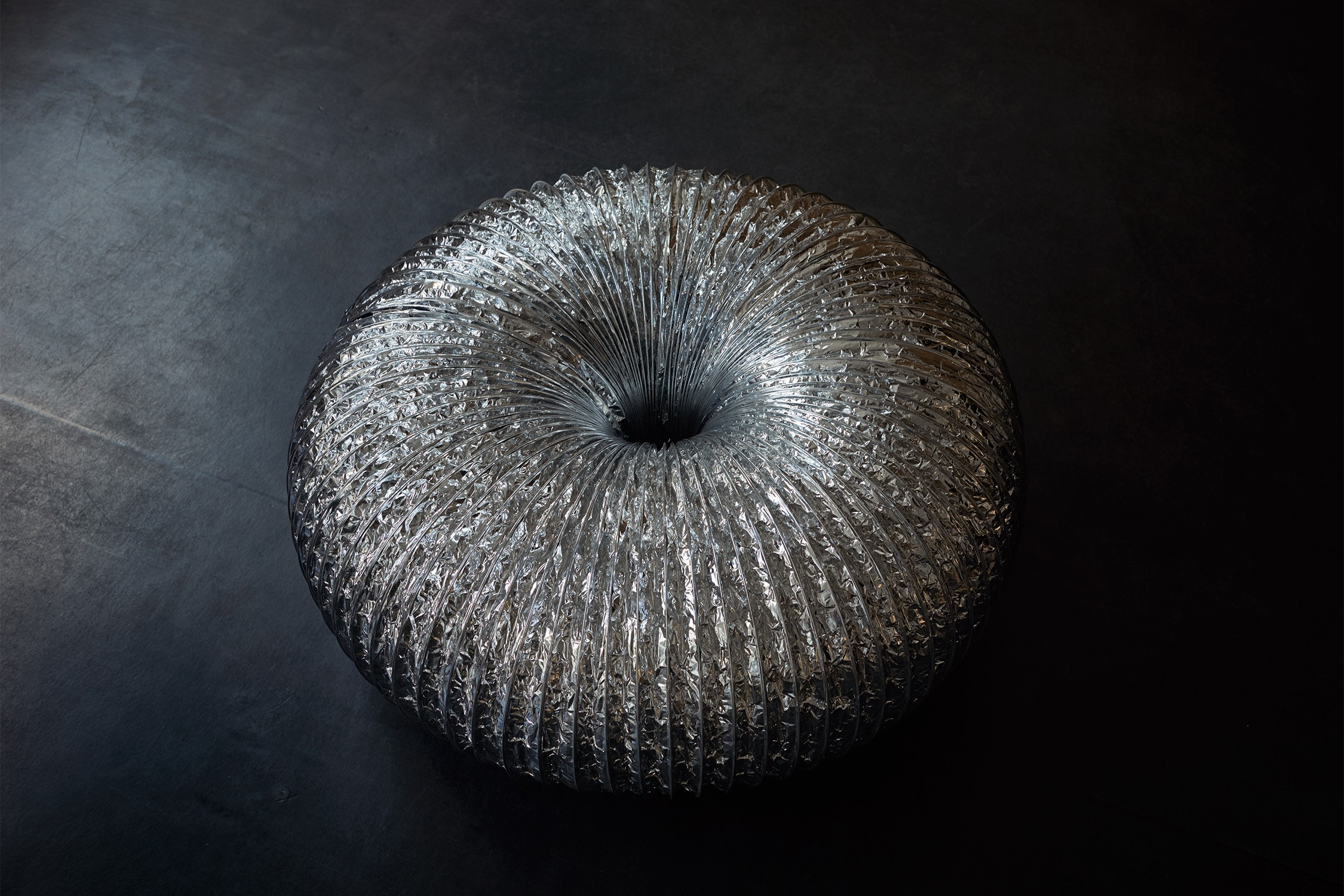 Self-Revolving Torus (Silver)